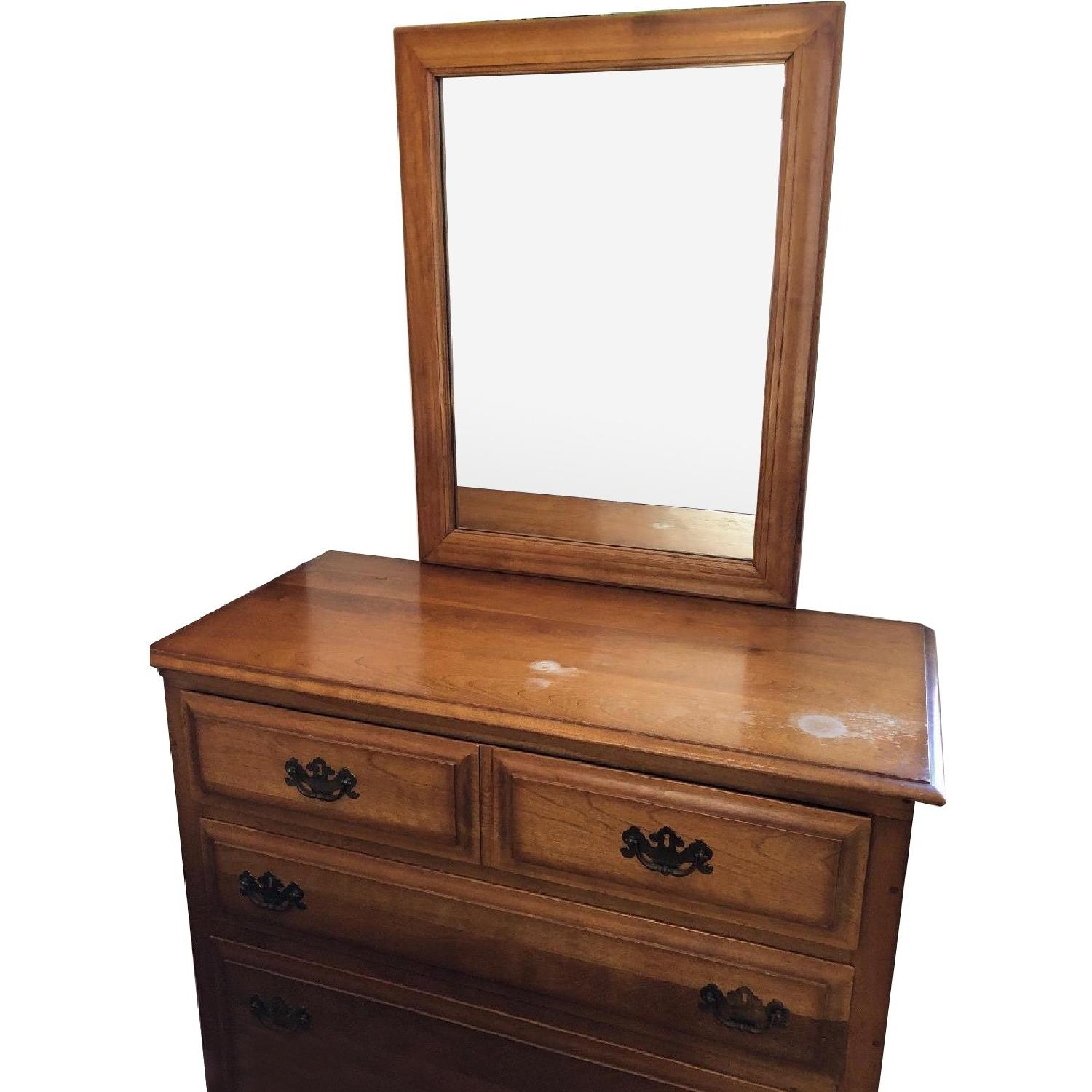 Wood Dresser w/ Mirror - image-0