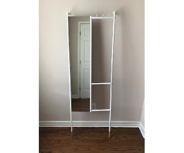 Urban Outfitters White Leaning Mirror