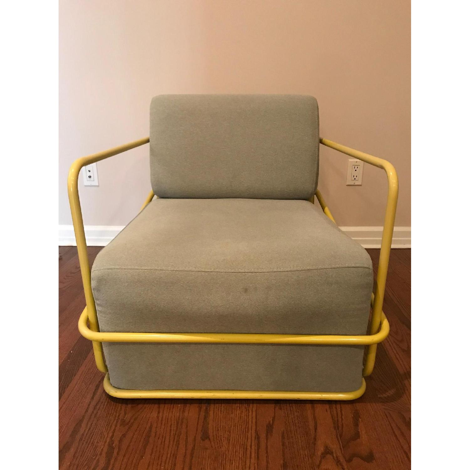Light Grey Armchair - image-1
