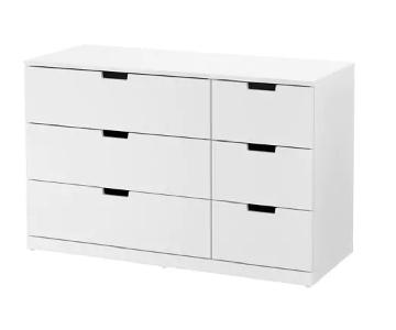 Ikea Nordli 6-Drawer White Dresser