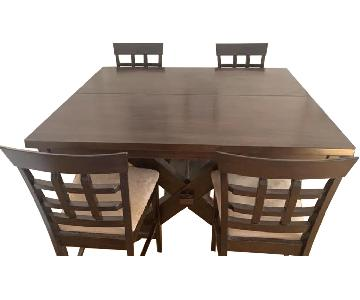 Bob's Expandable Counter Height Table w/ 4 Stools