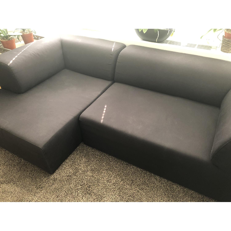 Fashion For Home Black Modular 2 Piece Sectional Sofa - image-2