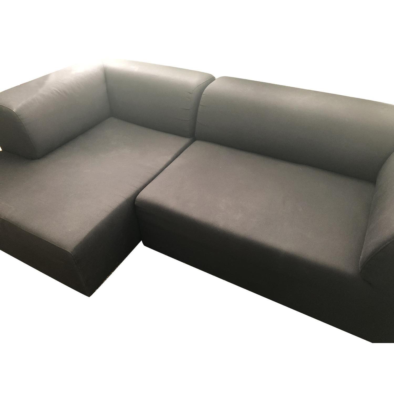 Fashion For Home Black Modular 2 Piece Sectional Sofa - image-0