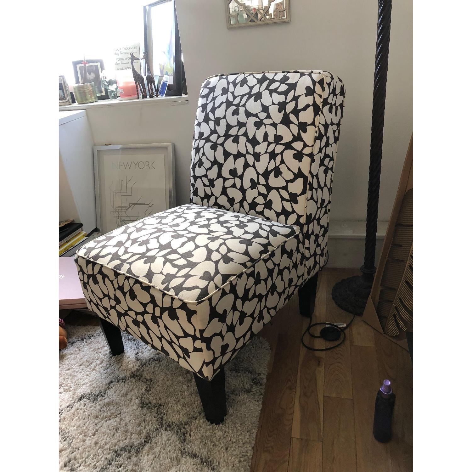 Jane Accent Chair in Brown & Cream - image-1