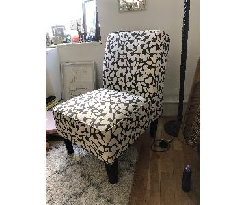 Jane Accent Chair in Brown & Cream