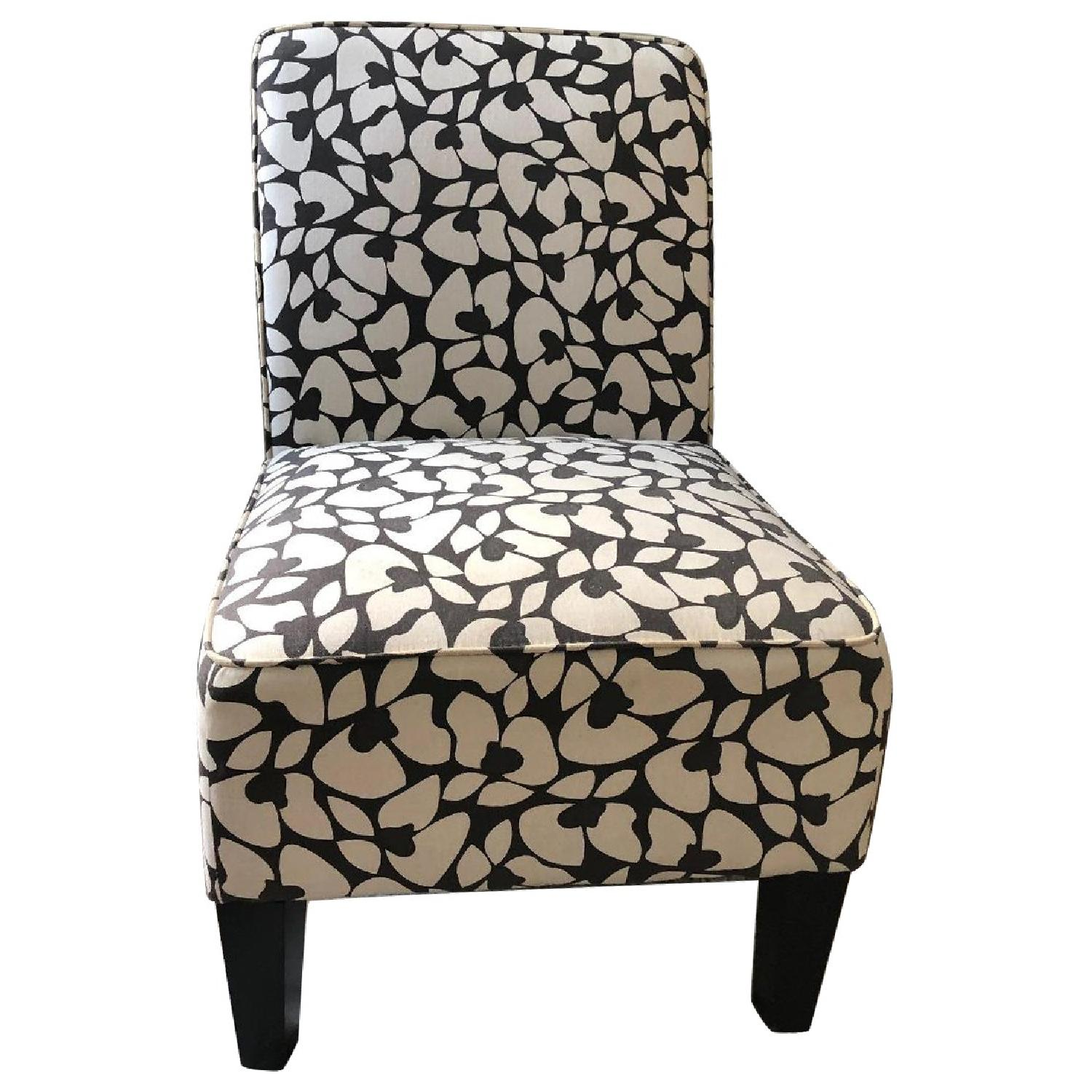 Jane Accent Chair in Brown & Cream - image-0