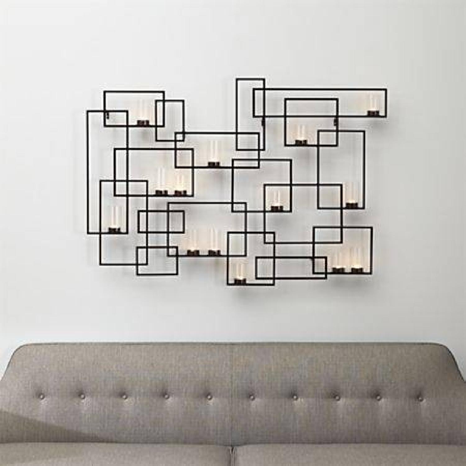 Crate & Barrel Circuit Metal Wall Candle Holder - image-2