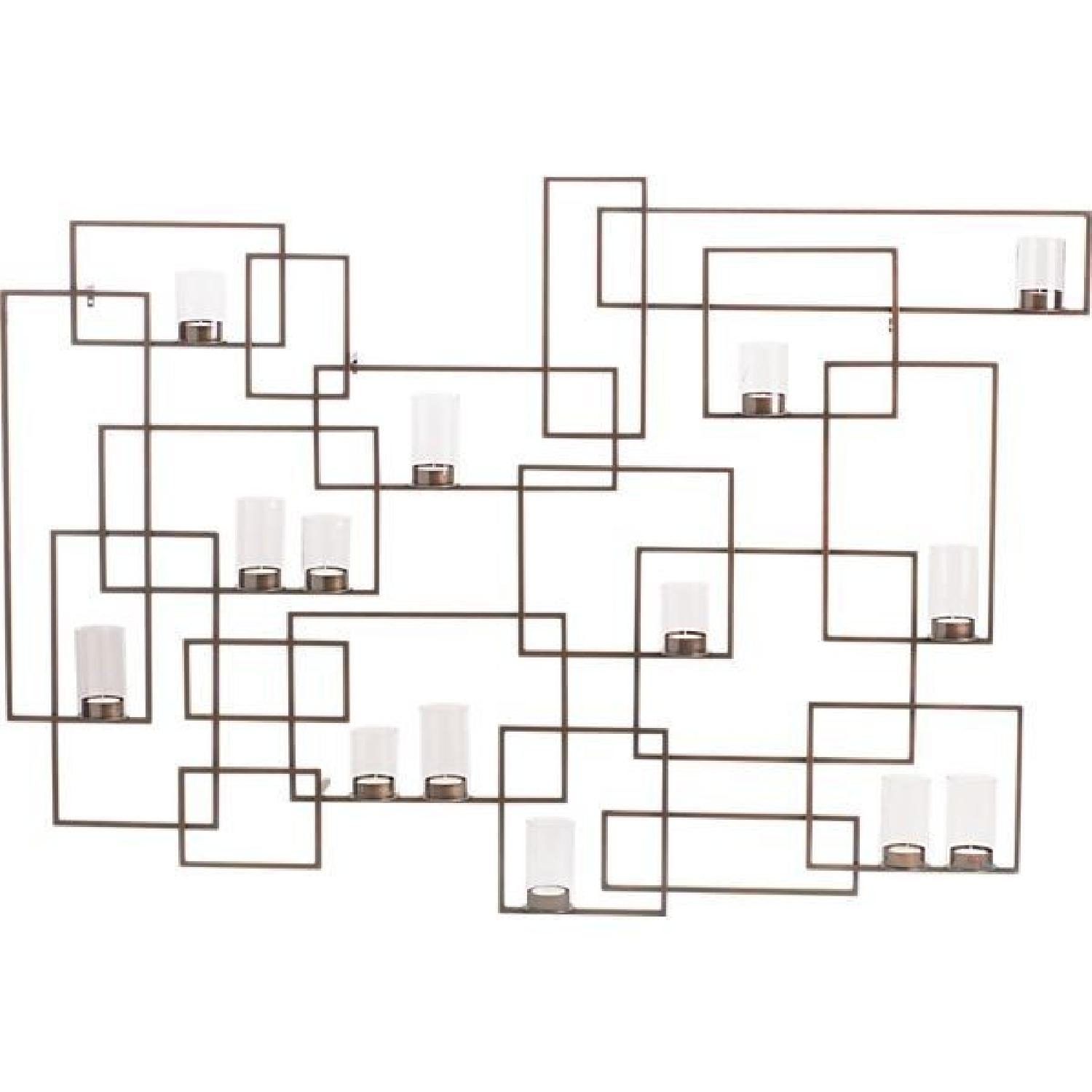Crate & Barrel Circuit Metal Wall Candle Holder - image-0