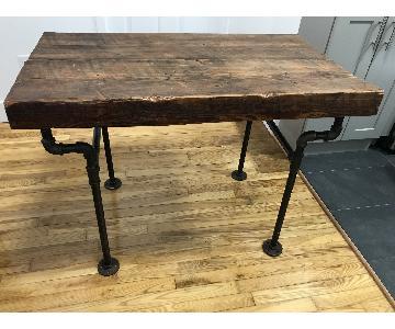 Reclaimed Wood Desk w/ Industrial Pipe Legs