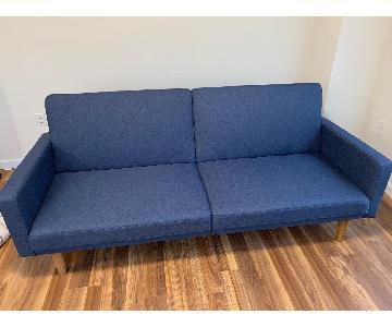 Langley Street Cobbs Navy Convertible Sofa