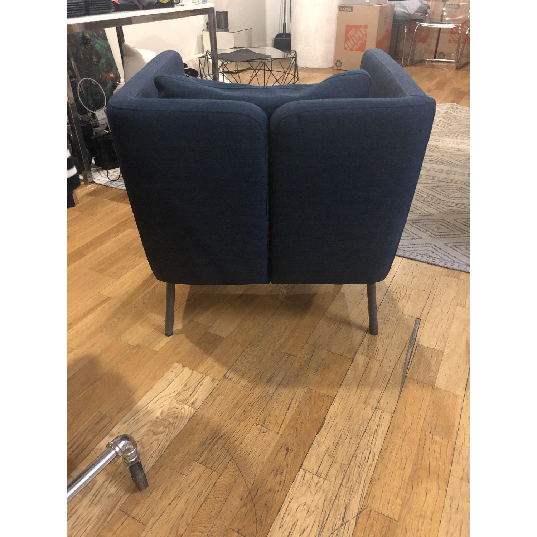 Ikea Navy Blue Armchair - image-2