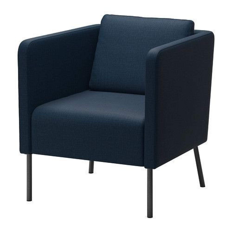 Ikea Navy Blue Armchair - image-0