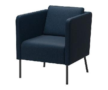 Ikea Navy Blue Armchair