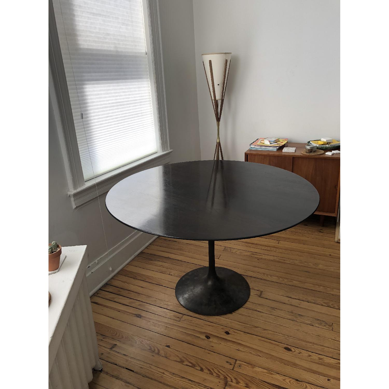 Knoll Walnut & Bronze Tulip Table - image-1