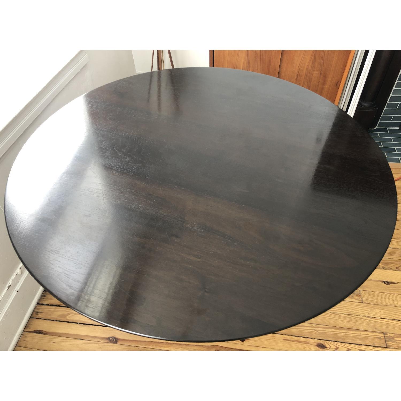 Knoll Walnut & Bronze Tulip Table - image-2