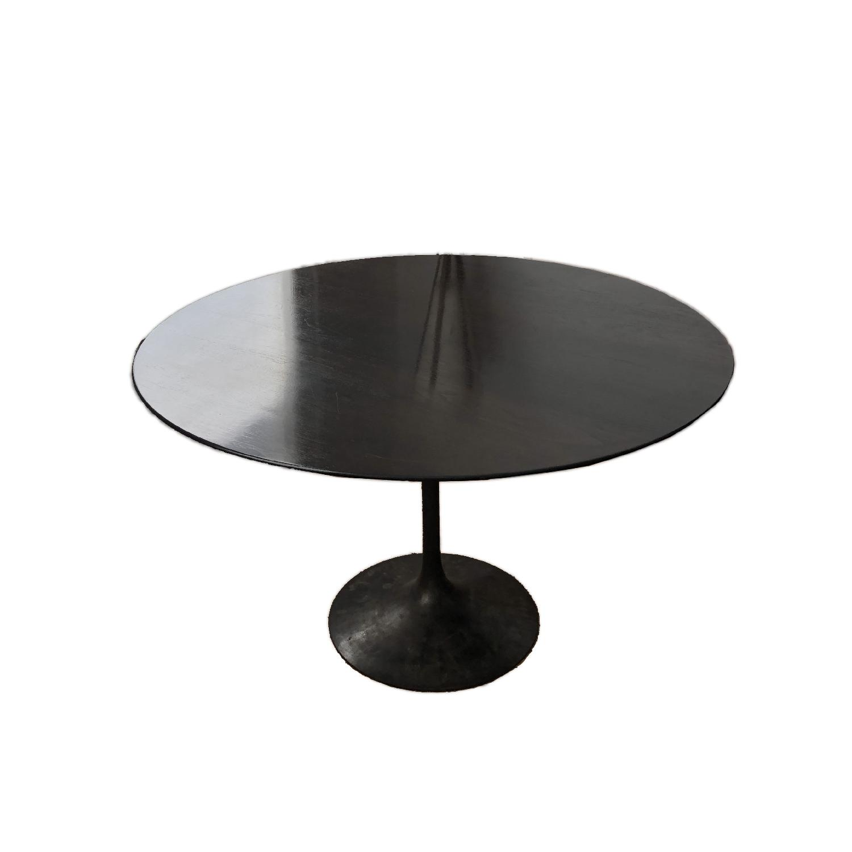 Knoll Walnut & Bronze Tulip Table - image-0