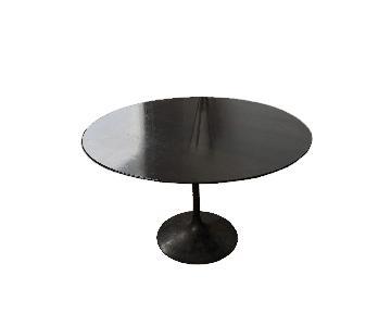 Knoll Walnut & Bronze Tulip Table