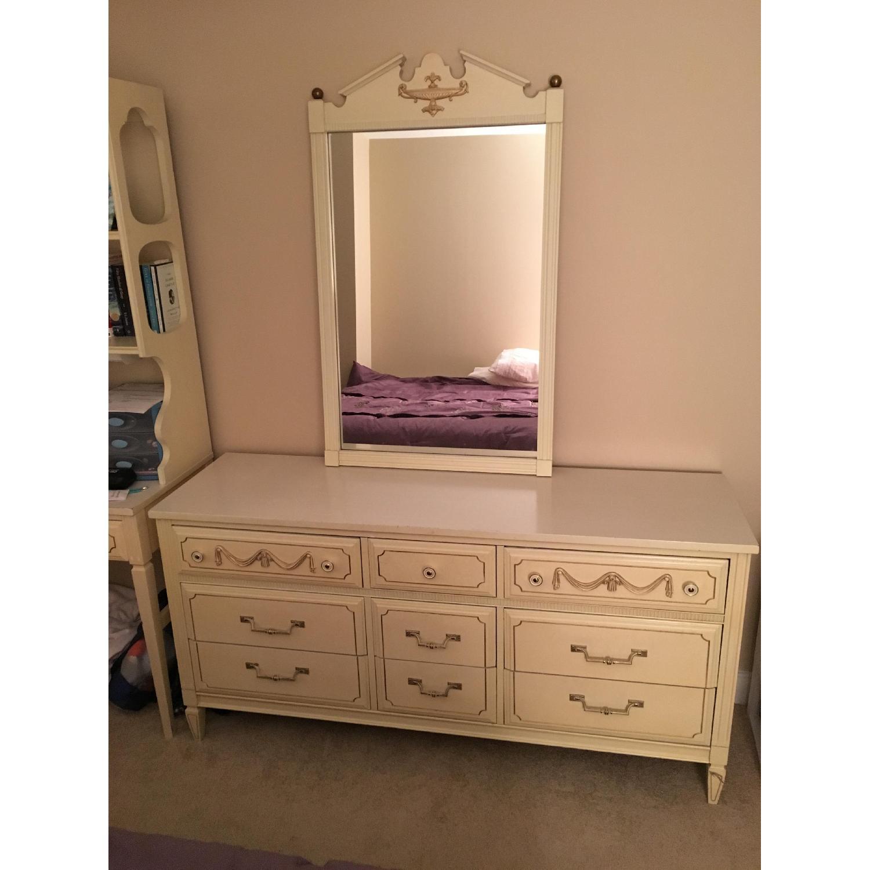 Antique Dresser w/ Matching Mirror - image-1