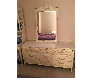 Antique Dresser w/ Matching Mirror