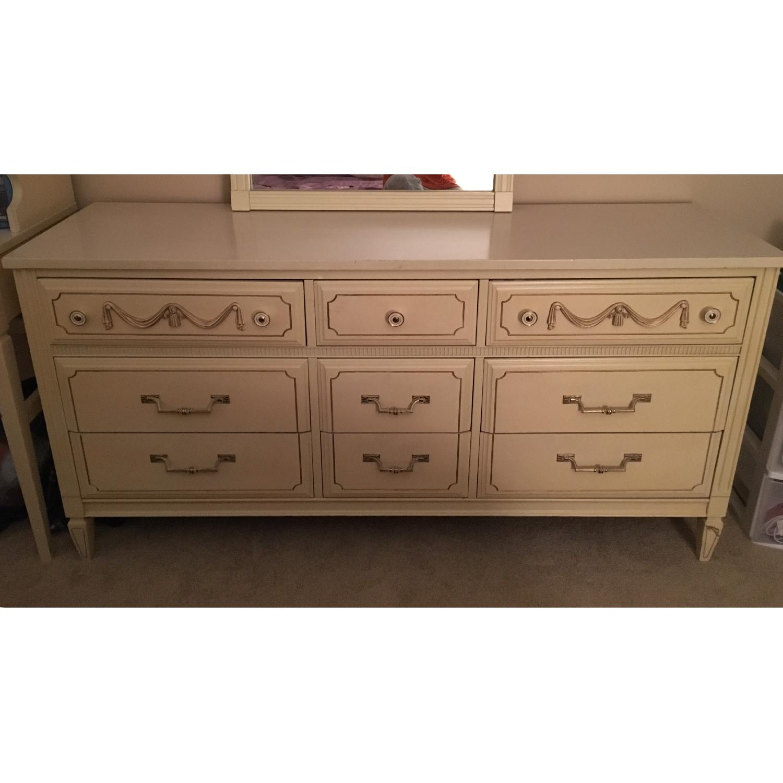 Antique Dresser w/ Matching Mirror - image-2
