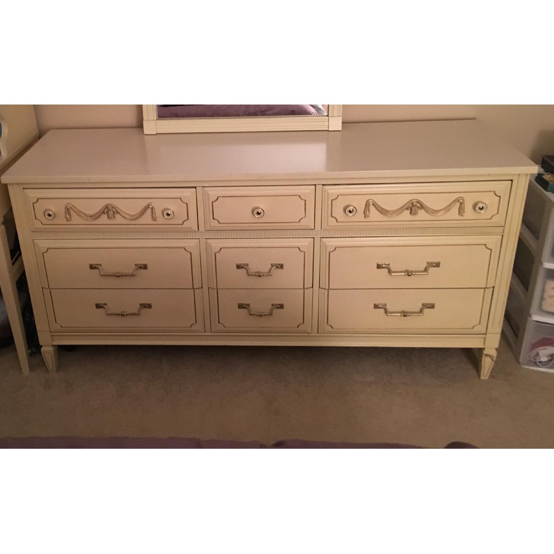 Antique Dresser w/ Matching Mirror - image-3