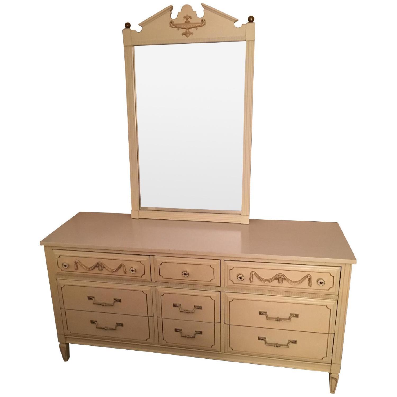 Antique Dresser w/ Matching Mirror - image-0