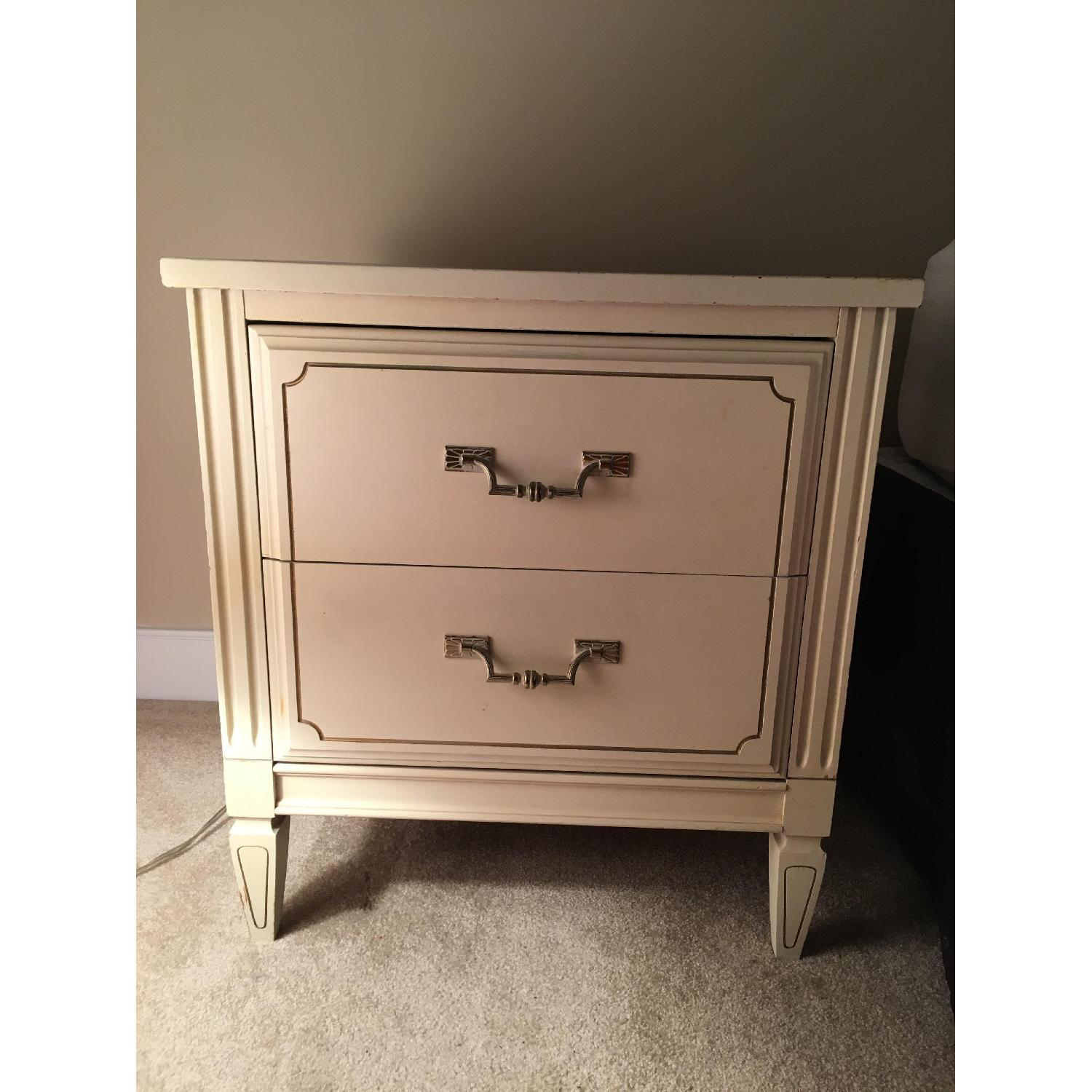 Antique 2-Drawer Nightstand - image-1