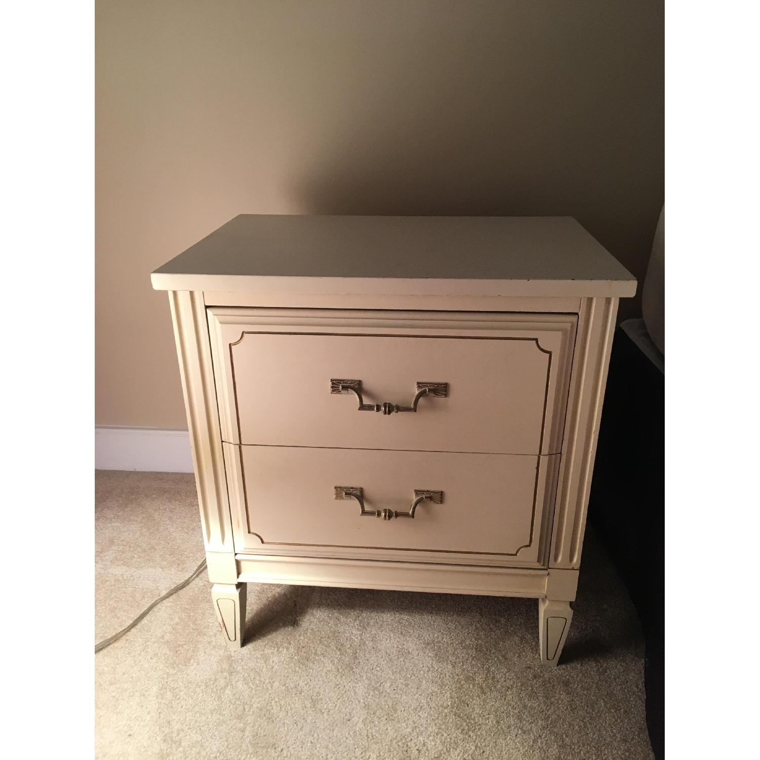 Antique 2-Drawer Nightstand - image-2
