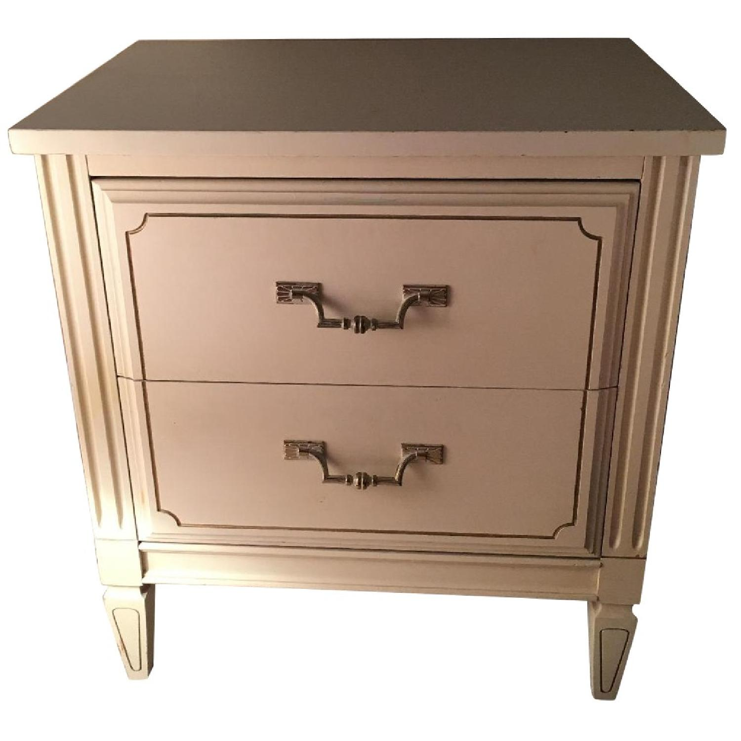 Antique 2-Drawer Nightstand - image-0