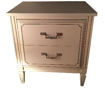 Antique 2-Drawer Nightstand