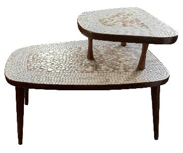 Vintage Modern Mosaic Tile Side Tables