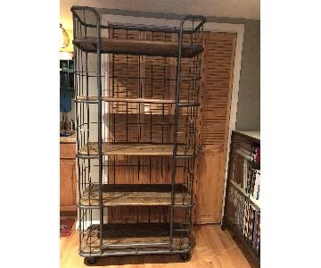 ABC Carpet and Home Metal & Reclaimed Wood Etagere Bookcase