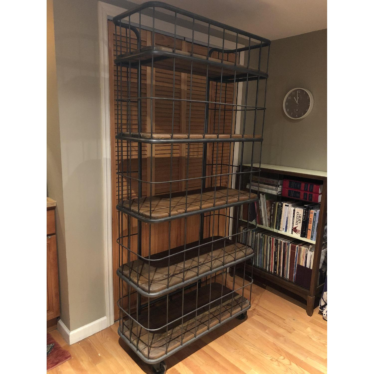 Abc Carpet And Home Metal Reclaimed Wood Etagere Bookcase