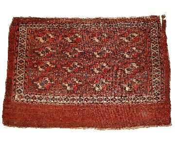 Handmade Antique Collectible Turkmen Yomud Rug