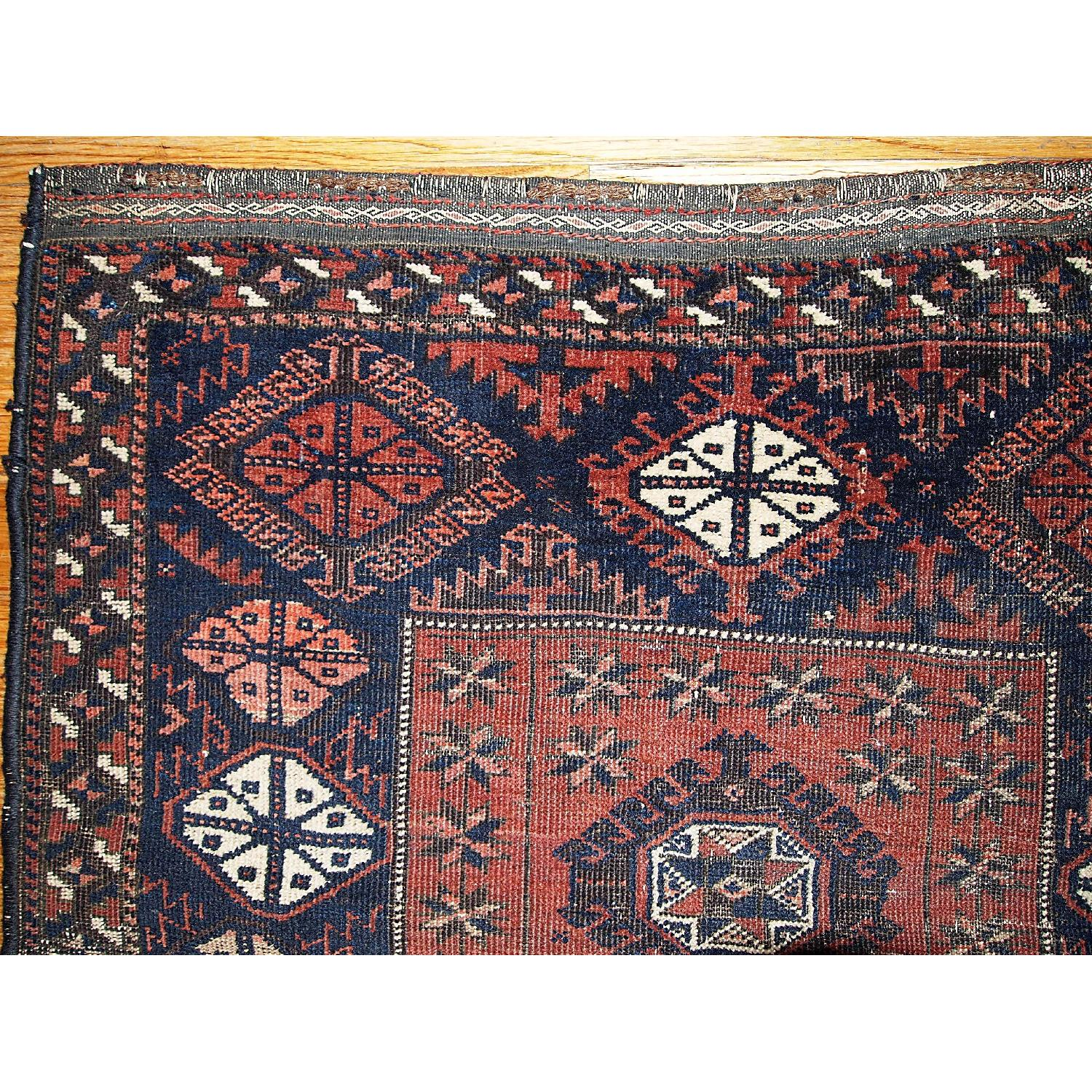 Antique Handmade Collectible Afghan Baluch Rug