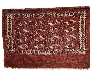 Antique Handmade Collectible Turkmen Tekke Rug