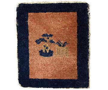 Antique Handmade Chinese Peking Rug