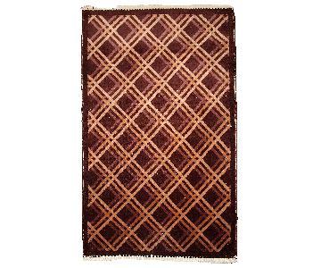 Antique Handmade Art Deco Chinese Rug