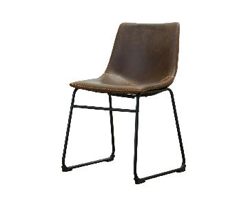 Round Hill Furniture Leather Dining Chairs