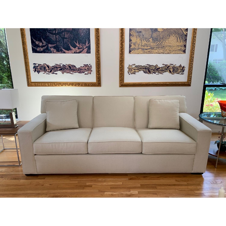 Ethan Allen Kendall Linen Sofa - image-1