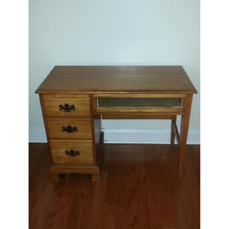 Vintage Wood Desk w/ Storage - image-1