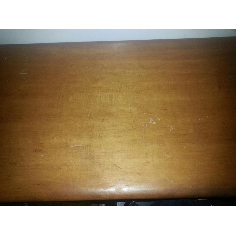 Vintage Wood Desk w/ Storage - image-5