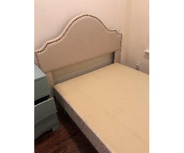 Full/Queen Bed Frame w/ Upholstered Headboard