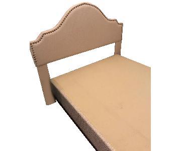 Full/Queen Bed Frame w/ Upholstered Headboard