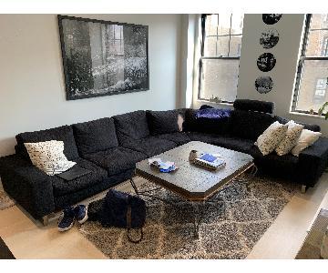 BoConcept 3 Piece Corner Sectional Sofa