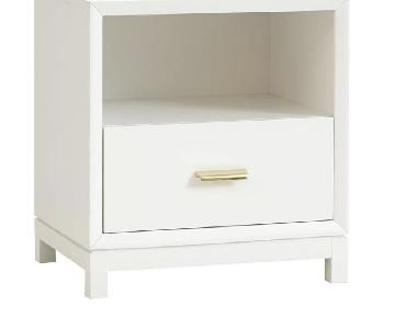 Pottery barn white laquer nightstands