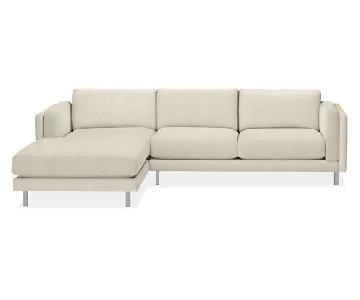 Room & Board Cade Sectional Sofa w/ Chaise