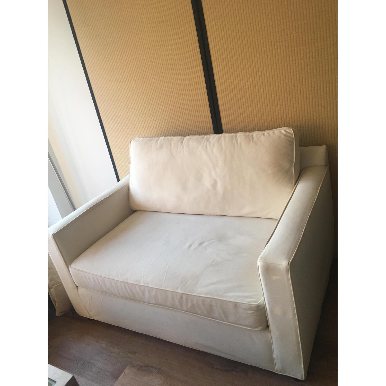 Crate & Barrel Karnes Twin Sleeper Sofa - image-4