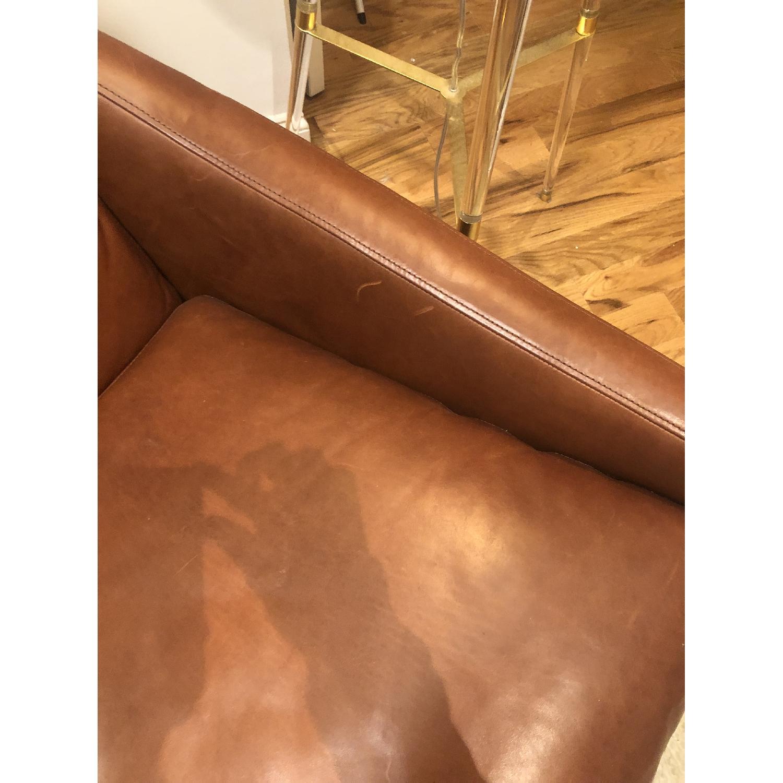 Fantastic West Elm Austin Leather Swivel Armchair Aptdeco Theyellowbook Wood Chair Design Ideas Theyellowbookinfo