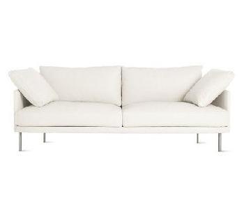 Design Within Reach Heather Almond Encore Leather Sofa